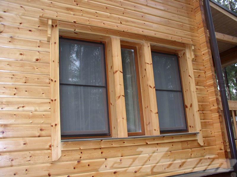 Как установить откосы на окна в деревянном доме фото